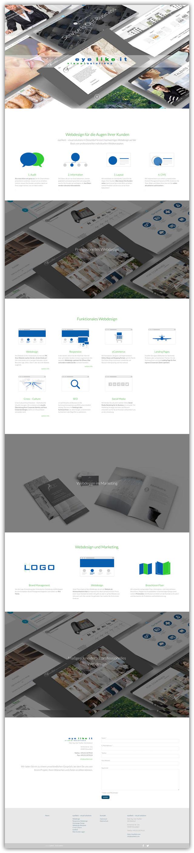 Die neue Homepage kommt im One-Page-Design